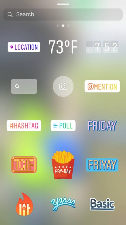 Instagram Story - Features